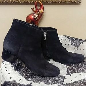 Sam Edelman Black Suede Ankle Boot